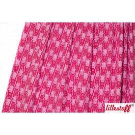 Jersey Katzentritt rosa / himbeer
