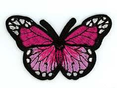 Flick aufnäher Schmetterling Pink