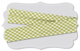 Schregband Warm olive kleines Karo