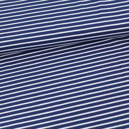 Jersey Streifen marineblau