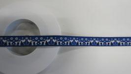Hund Band blau