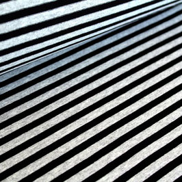 Jersey Streifen schwarz melange 76