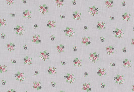 Baumwolle kbA Blume grau-bunt