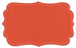 Uni Popeline fein mandarin red
