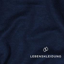 Leinen Jersey dunkelblau