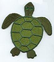 Flick aufnäher Schildkröte