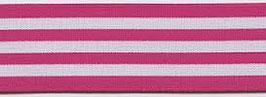 Elastikband Strippes pink
