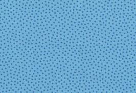 Baumwolle kbA Punkte blau-blau