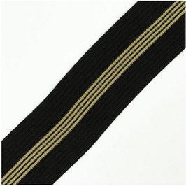 Elastik band soft mit Streifen schwarz