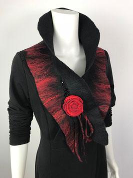 Schal mit Blume S-0703