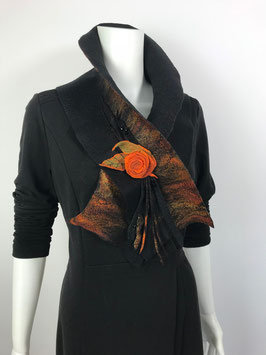 Schal  mit Blume S-0603