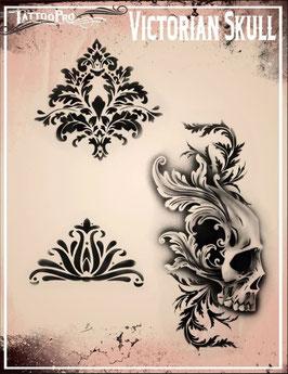 """Stencil """"Victorian Skull"""""""
