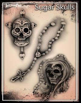 """Stencil """"Sugar Skulls"""""""