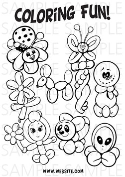 Coloring Page Balloons
