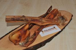 Rinderkopfhaut ohne Fell, 20-30 cm Stücke