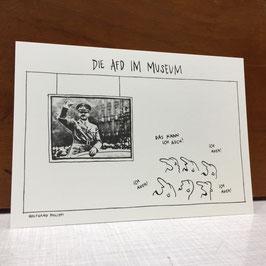 """Postkarte """"Die AFD im Museum"""""""