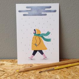 """Postkarte """"Regen"""""""