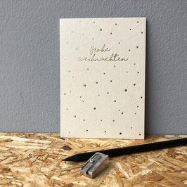 """Postkarte """"Frohe Weihnachten"""" beige"""