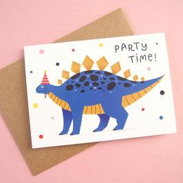 """Klappkarte """"Party Time"""" Dino"""