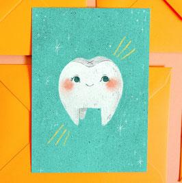 """Postkarte """"Blauer Zahn"""""""