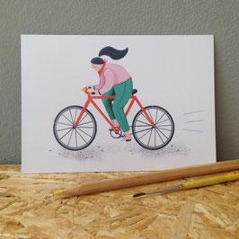 """Postkarte """"Fahrrad"""""""