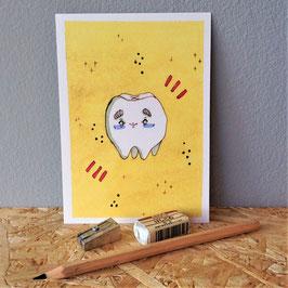 """Postkarte """"Zahn"""""""