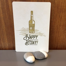 "Postkarte ""Happy Birthday / Prost"""