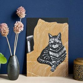 """Poster """"Katze auf der Couch"""""""