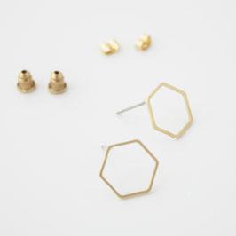 """Ohrstecker """"Hexagon Kontur"""""""