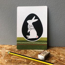 """Postkarte """"Hase im Ei"""""""