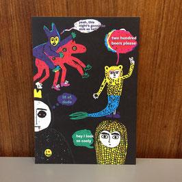 "Postkarte ""celebrating so cooly life"""