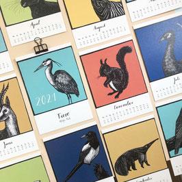 """Kalender """"Tiere"""" 2021"""