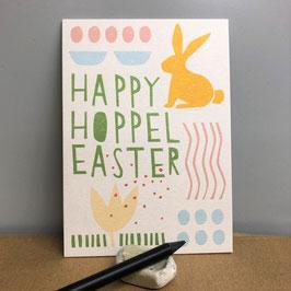 "Postkarte ""Happy Hoppel Easter"""