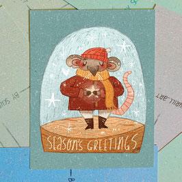 "Postkarte ""Seasons Greetings"""