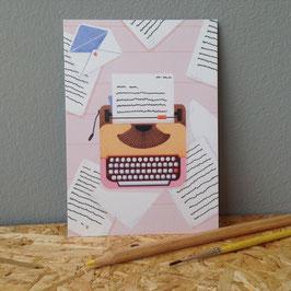 """Postkarte """"Schreibmaschine"""""""
