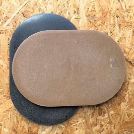 """Beton-Teller """"disk"""" oval"""