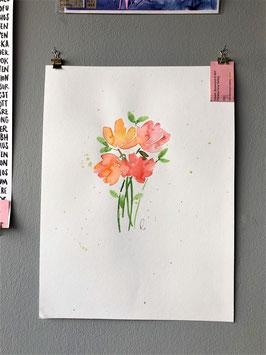 """Aquarelle """"Blumen"""" II"""