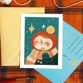 "Postkarte ""Kind mit Stern"""