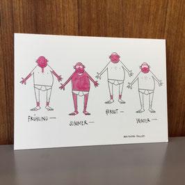 """Postkarte """"Jahreszeiten"""""""
