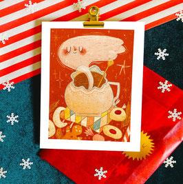 """Postkarte """"Weihnachts-Tasse"""""""