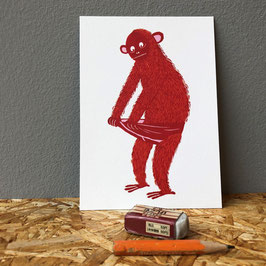"Postkarte ""Monkey Pants"""