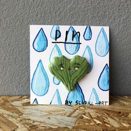 """Pin """"Ginko"""" grün"""