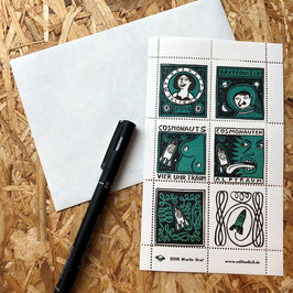 Kosmonauten-Briefmarken