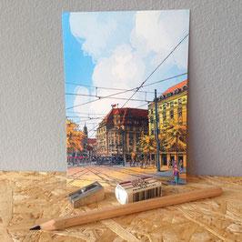 """Postkarte """"Königsplatz"""""""