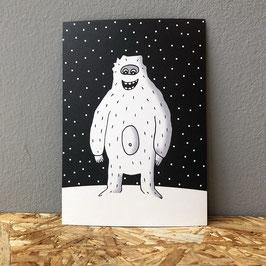 """Postkarte """"Yeti"""""""
