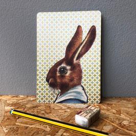 """Postkarte """"Grüner Hase"""""""