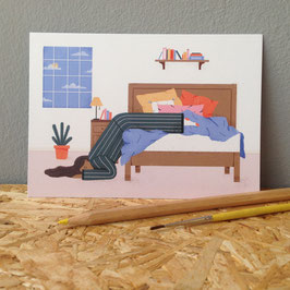 "Postkarte ""Bett"""