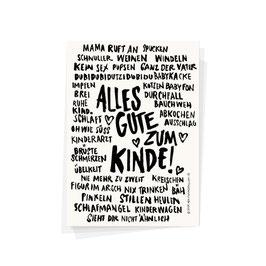 "Postkarte ""Alles Gute zum Kinde"""