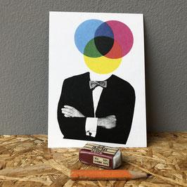 """Postkarte """"Farbkreise"""""""