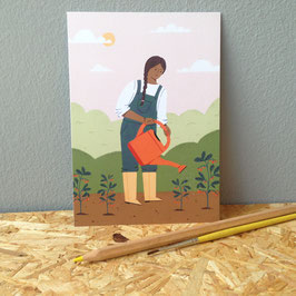 "Postkarte ""Garten"""